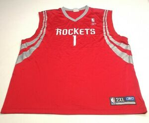 Reebok NBA Houston Rockets Mens Jersey, Size 2XL, Red, Good Condition AE3
