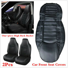 PU Leather Car Front Seats Protector Cushions One-piece High Back Bucket Style