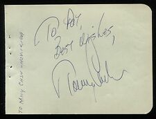 Tommy Cash Vintage Signed Album Page Johnny Cash's Brother Autographed