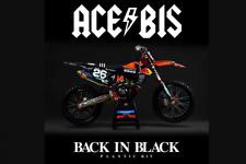 KTM EXC EXCF 17-19 ACERBIS BACK IN BLACK TROY LEE FULL PLASTIC KIT