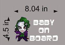 Joker Baby on Board / DC Comics / Vinyl Vehicle Decals / Window Sticker / Kids