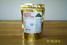 100% USDA Raw Organic Spirulina  Powder 1/4 Lb. COHEN'S ORGANIC SUPERFOODS