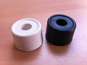 Rubber Door Stop Black Or White 33mm Stopper Wedge 2, 5, 10, 20, 50, 100 Cheap!