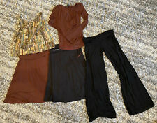 Lot Juliet Dream Women's Tan Beige Cotton Maternity Clothes Sz Small & Medium