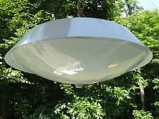 MID CENTURY MODERN flying saucer Light Ceiling Hanging Lamp swag THOMAS IND USA