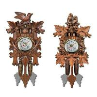 Vintage Cuckoo Clock Swing Wooden Art Wall Hanging Clock Alarm Home Decor Gift