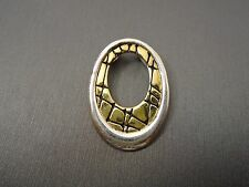 STERLING SILVER **OVAL GOLD TONE PENDANT** 4.6g #AC669