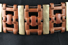 "Chicos Chain Belt 18-50"" Wide Copper Gold Brass Metal OS XS S M L XL 2X 3X"