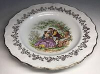 lot8 De 6 Assiettes Creuses Fragonard En Porcelaine Digoin France 🇫🇷 D 24 Cm