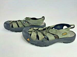 Men's Keen SM 0608 Leather Waterproof Sandals Shoes Hiking Walking Sz 11.5