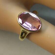 9 ct GOLD second hand pink tourmaline ring