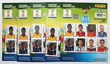 Panini World Cup 2014 Brazil - 5 x sealed set of 71 update stickers NEW
