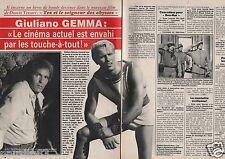 Coupure de presse Clipping 1986 Giuliano Gemma  (2 pages)