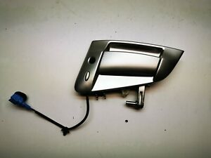 NISSAN 370Z 2010 3.7 GT V6 243KW FRONT RIGHT SIDE EXTERIOR DOOR HANDLE / SILVER