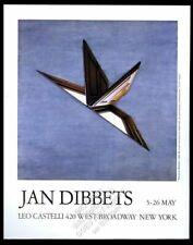 1990 Jan Dibbets Barcelona Window art NYC gallery vintage print ad