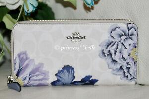 🎁 Coach Kaffe Fassett Accordion Zip Wallet Floral Print Valentines Gift Purse