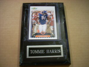 Tommie Harris Chicago Bears Score 2006 Card in plaque