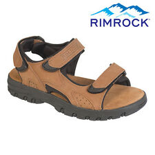 Rimrock Brown Leather Strap Sandals - Men's 11