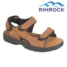 Rimrock Brown Leather Strap Sandals - Men's 11