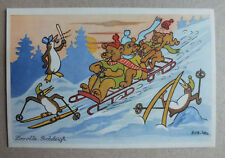 CPA ILLUSTRATEUR - ROB VEL - ZOOVILLE - BOBSLEIGH