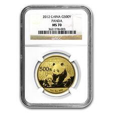 2012 China 1 oz Gold Panda MS-70 NGC - SKU #67367