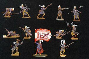 Osmanische Janitscharen 16. - 18. Jhdt. - 12 Zinnfiguren 30mm - handbemalt