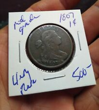 1807 Draped Bust Large Cent Beautiful Coin Rare Date