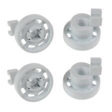 4 x Dishwasher Top Upper Basket Rail Wheels Set For Bosch Neff & Siemens - White