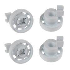 4 x Dishwasher Top Upper Basket Rail Wheels Set For Bosch Neff & Siemens - White