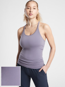 ATHLETA Renew Support Top XS Tempest Violet   Yoga Tank Top, Workout Shirt NWT