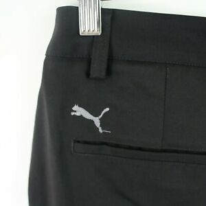 Puma Mens Golf Pants Size 32x32 flat front black performance