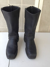 Harley Davidson Milwaukee Women's Black Leather Single Zipper Riding  Boots 6 D