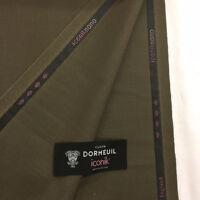 "DORMEUIL 2.3 metres ""Iconik Nano"" Khaki/Brown Super 120's 100% Wool Suit Fabric"