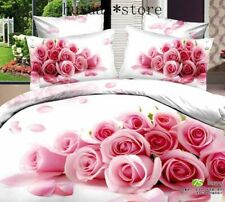 3D Rose Bedding sets pink color Comforter Cover Set Bedlinen set Pillowcase Hot