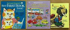 Lot 3 RICHARD SCARRY Books Cars and Trucks Things that Go Storybook Picture HB