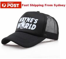 WAYNES WORLD Black TRUCKER MESH Cap Movie Costume 90s Party Quality Dress-up Hat