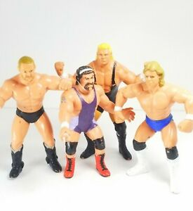 4 WCW 1990 figures SID VICIOUS -LEX LUGER -BARRY WINDHAM-RICK STEINER FREE SHIP