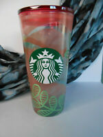 *RARE* STARBUCKS - 2020 SPRING 18 oz GLASS TUMBLER - FLORAL EASTER Cold Cup