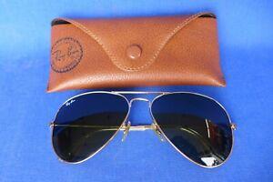 Ray-Ban Aviator Sunglasses RB3025 58-14mm L0205 Gold Frame & Green Lenses