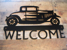 Antique Car Welcome Wall Art
