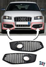 NEW AUDI S3 8P 2006-2008 FRONT BUMPER LOWER FOG LIGHT GRILL COVER PAIR SET