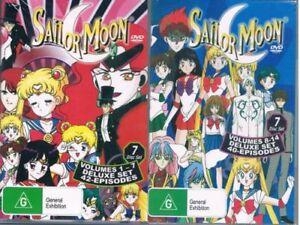 Sailor Moon DVD Volumes 1-7 & 8-14 ENGLISH (2 Box Set) New Australian Release