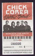 ORIGINAL USED TICKET STUB CHICK COREA ELECTRIC BAND BENEATH THE MASK 1992 TOUR