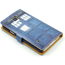 Hipster Doctor Who Tardis Leather Wallet Flip Stand Case For Samsung Galaxy S5