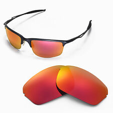 New WL Polarized Fire Red Replacement Lenses For Oakley Half Wire 2.0 Sunglasses