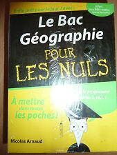 Le Bac Géographie Pour Les Nuls Nicolas Arnaud