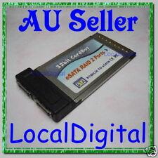 Silicon Image SiI3112 PCMCIA CardBus 2 eSATA RAID Card