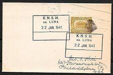 Guatemala covers 1943 Ship PC KNSM SS LUNA to Philadelphia