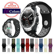 20mm 22mm Silicone Sport Breathable Watch Strap Band for TicWatch Pro S2 E2