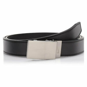 NIKE GOLF MEN'S PLAQUE EDGE ACU-FIT BELT CUT TO FIT UP TO SIZE 42 BLACK 20178